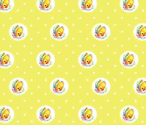 chick yellow fabric by myracle on Spoonflower - custom fabric