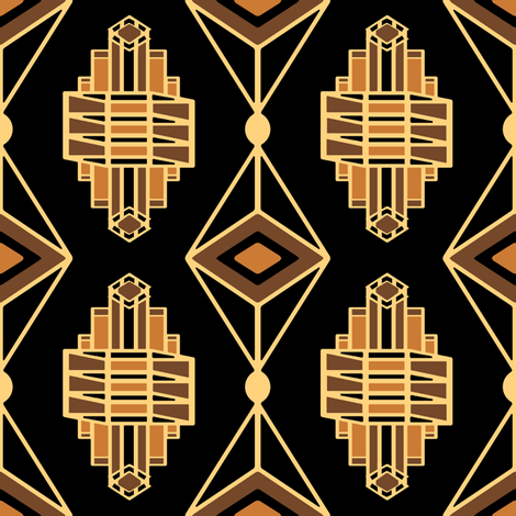 ArtDecoJewelWesternPonyshades fabric by grannynan on Spoonflower - custom fabric