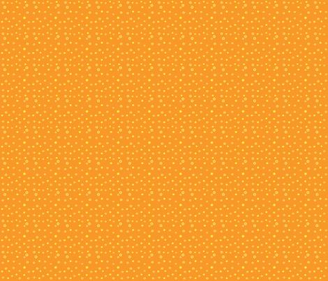 lemon flowers-w/orange  fabric by paulette_paulo on Spoonflower - custom fabric