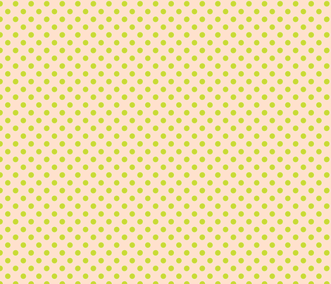 Dots - Shell Pink with Green fabric by anntuck on Spoonflower - custom fabric