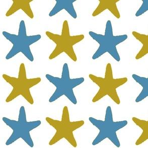 Starfish Blue and Mustard