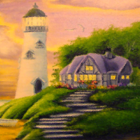 lighthouse big fabric by krs_expressions on Spoonflower - custom fabric