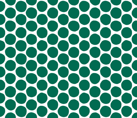 Teal Polka Dot fabric by red_velvet on Spoonflower - custom fabric