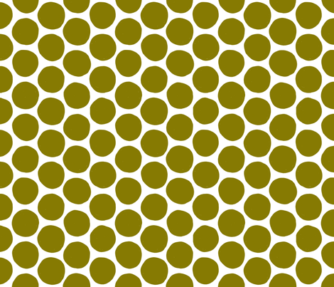 Moss Polka Dot fabric by red_velvet on Spoonflower - custom fabric