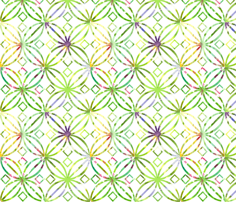 Spring Green Art Nouveau  fabric by countrygarden on Spoonflower - custom fabric