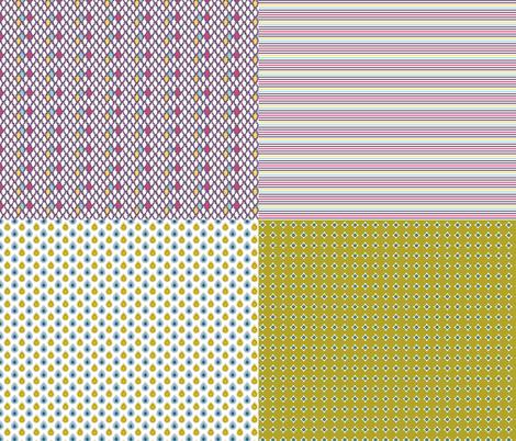 Miniature_4xpattern-1 fabric by ollipoppies on Spoonflower - custom fabric