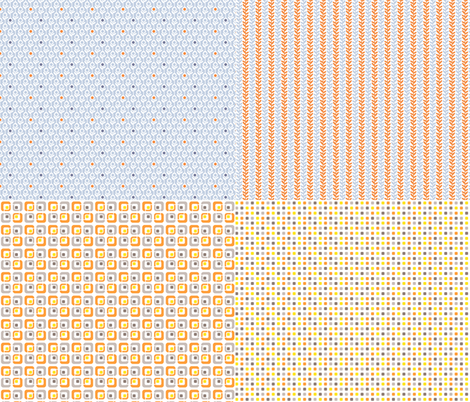 Miniature_4xpattern-2 fabric by ollipoppies on Spoonflower - custom fabric