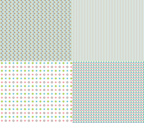Miniature_4xpattern-5 fabric by ollipoppies on Spoonflower - custom fabric