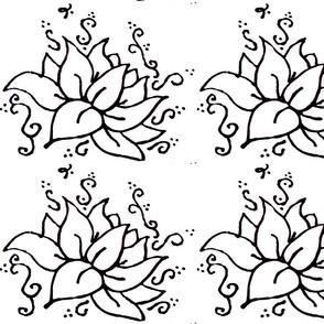 lotus puffy paint