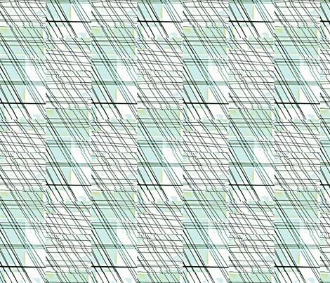 Summer Rain-blues/greens fabric by relative_of_otis on Spoonflower - custom fabric