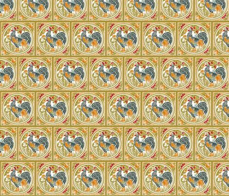 Proud Rooster fabric by relative_of_otis on Spoonflower - custom fabric