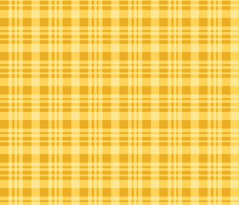 Plaid gold fabric by khowardquilts on Spoonflower - custom fabric