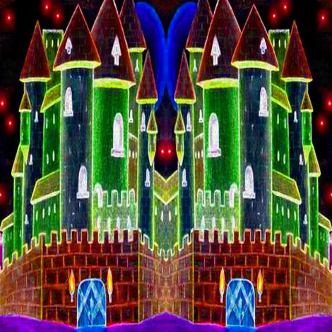 castle neon fabric by krs_expressions on Spoonflower - custom fabric