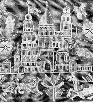 russian folk lace landscape