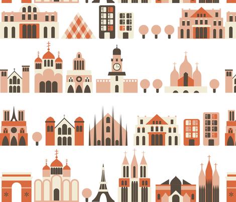 european streets fabric by anastasiia-ku on Spoonflower - custom fabric