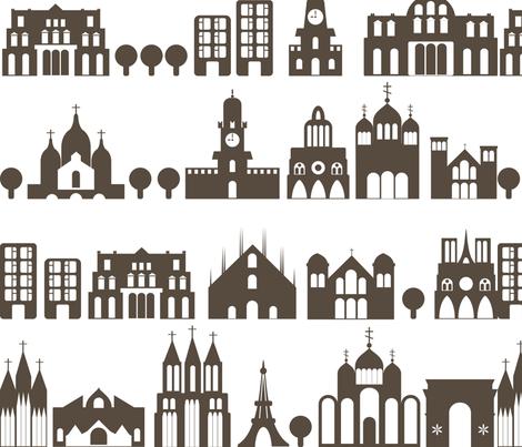 city streets fabric by anastasiia-ku on Spoonflower - custom fabric