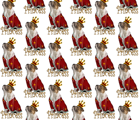 Old English Bulldog Princess fabric by dogdaze_ on Spoonflower - custom fabric