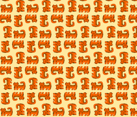 Kitty Cat - Marmalade fabric by woodledoo on Spoonflower - custom fabric