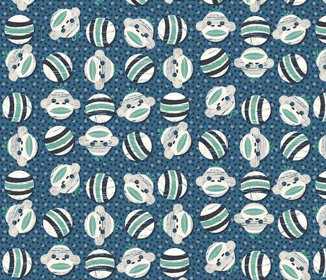 sockmonkey dots2 oceanic fabric by glimmericks on Spoonflower - custom fabric