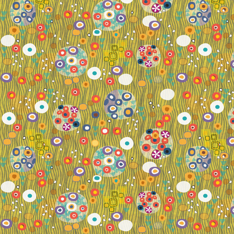 After Klimt - Woman - gold half scale fabric by glimmericks on Spoonflower - custom fabric