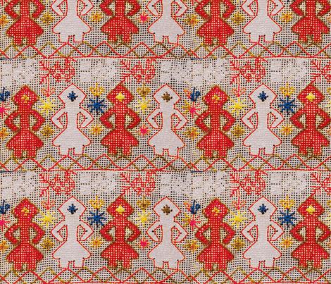 folk ladies fabric by kimbergay on Spoonflower - custom fabric