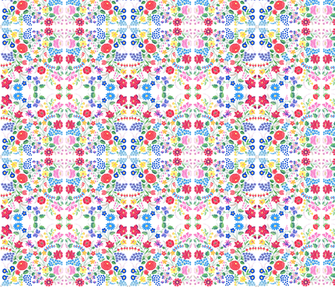 hungarian folk floral fabric by kimbergay on Spoonflower - custom fabric