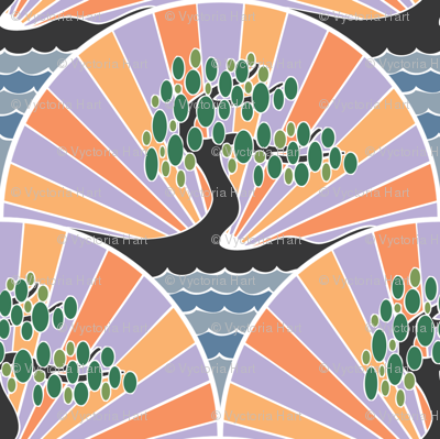 Faded Art Deco Tree
