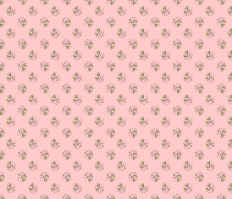 Cottage Roses in Mauve fabric by joanmclemore on Spoonflower - custom fabric