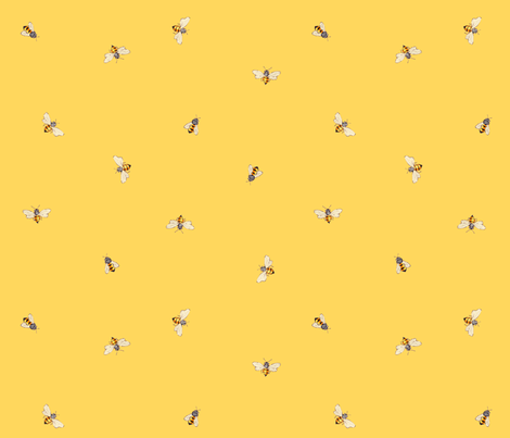 Bees - Sunny Yellow fabric by anntuck on Spoonflower - custom fabric
