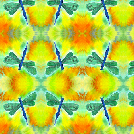 dragonfly fabric by krs_expressions on Spoonflower - custom fabric