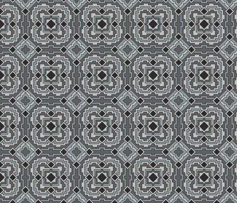 Deco Silver fabric by patchinista on Spoonflower - custom fabric