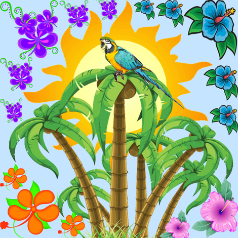 tropical  fabric by krs_expressions on Spoonflower - custom fabric