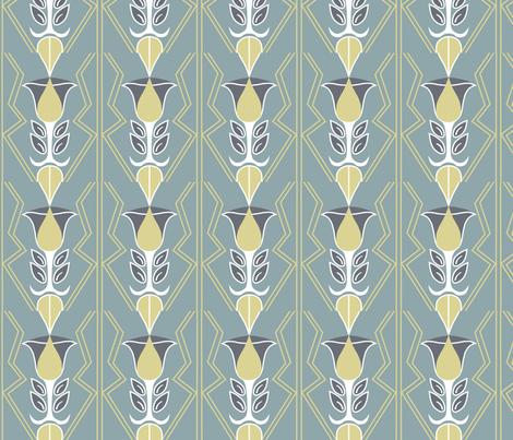 deco tulips fabric by angeladesigns on Spoonflower - custom fabric