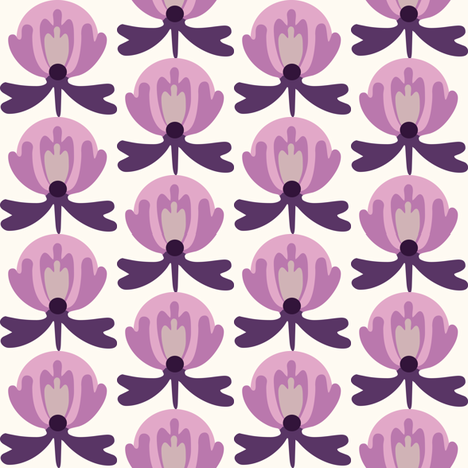 lilli_purple fabric by lilliblomma on Spoonflower - custom fabric