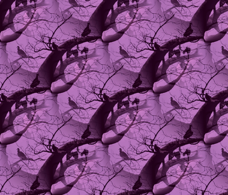 Fashion Vultures Are Royal Purple fabric by peacoquettedesigns on Spoonflower - custom fabric