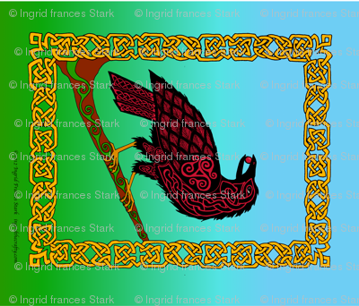 Celtic Raven Banner