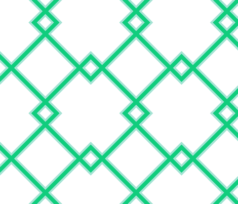 Lattice in julep fabric by domesticate on Spoonflower - custom fabric