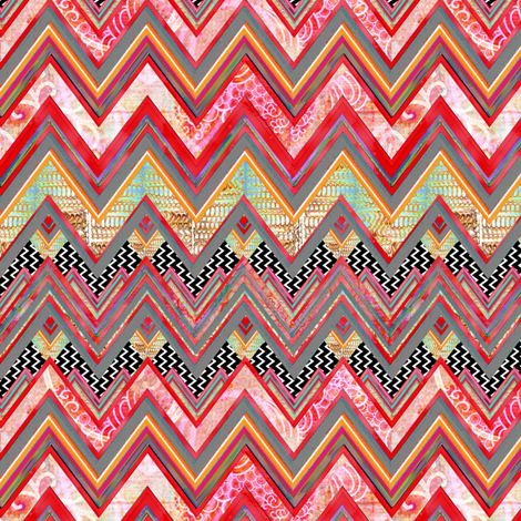 Distant Beat fabric by joanmclemore on Spoonflower - custom fabric