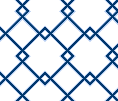 Lattice in ocean fabric by domesticate on Spoonflower - custom fabric