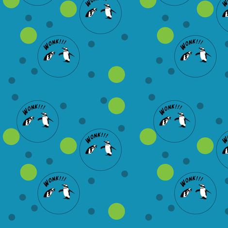 wonking-penguins-with-dots fabric by hartlinedesigns on Spoonflower - custom fabric