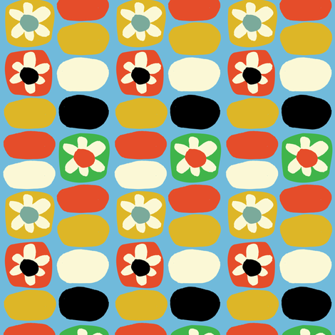 Flower Fancy- Multi-color fabric by gsonge on Spoonflower - custom fabric