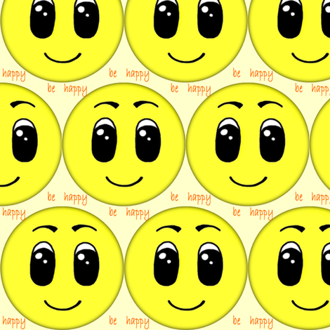 be happy fabric by krs_expressions on Spoonflower - custom fabric