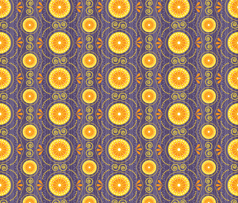 Cosmic Blossoms fabric by robyriker on Spoonflower - custom fabric