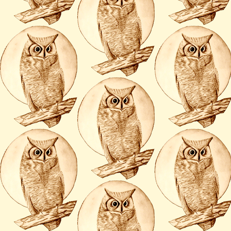 owl small fabric by krs_expressions on Spoonflower - custom fabric