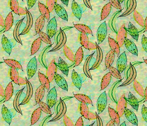Love leaves by Su_G fabric by su_g on Spoonflower - custom fabric