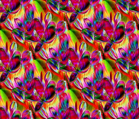 Jeweled Plumeria 10.5 x 9 fabric by missourah_gal on Spoonflower - custom fabric