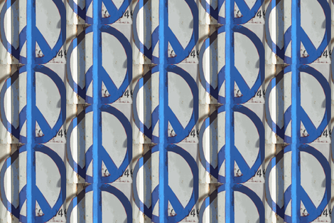 Give Peace Another Chance, Austin, TX fabric by susaninparis on Spoonflower - custom fabric