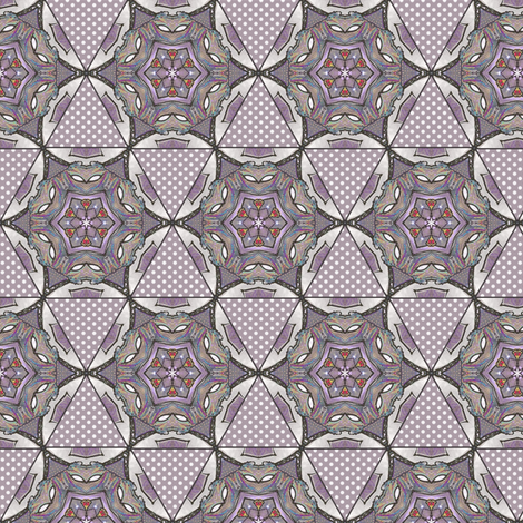 Chytosideron's Hexagon Patches 2 fabric by siya on Spoonflower - custom fabric