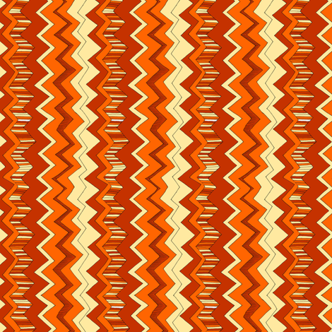 Marmalade Zigzag fabric by woodledoo on Spoonflower - custom fabric