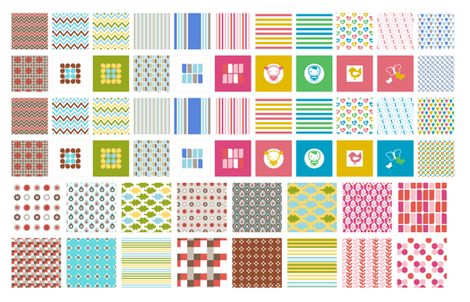 Miniature_pillows1 fabric by ollipoppies on Spoonflower - custom fabric